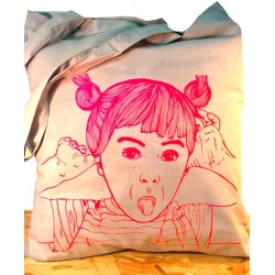 Tote bag - Fillette grimace...