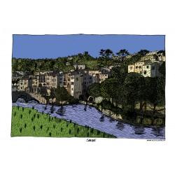 Carte postale Sauve - Pont