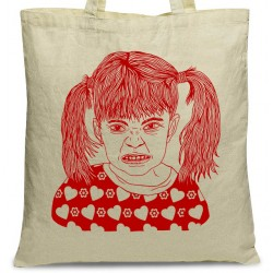 tote bag fillette coeur