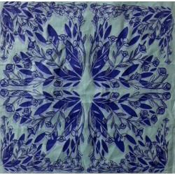Housses de coussin bleu