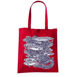 Tote bag Banc de poissons