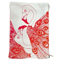 -sold out- Pochette Paon rouge