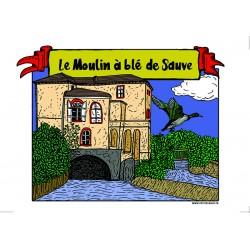 Carte postale Moulin à blé...