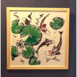Affiche carpes japonaises