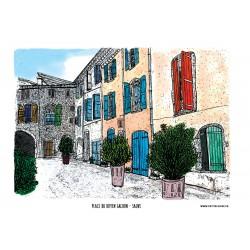 Carte postale Sauve - Place...