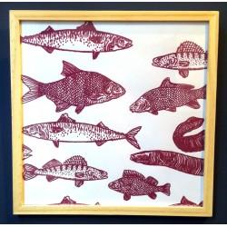 Affiche banc de poissons